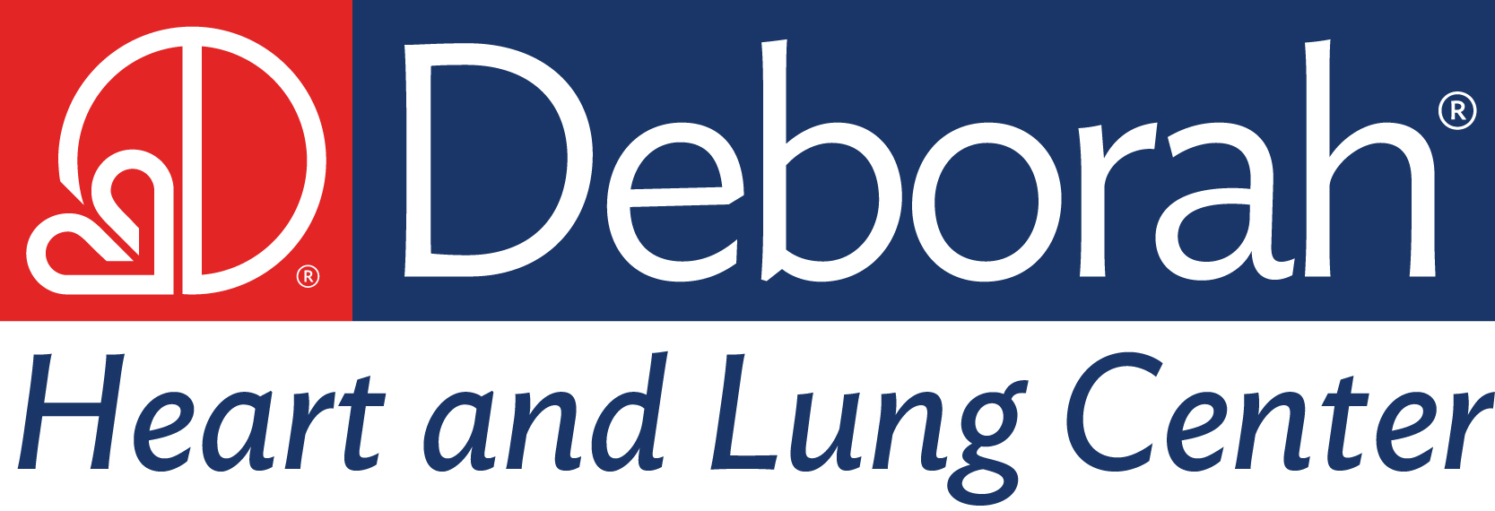 official Deborah Heart and Lung Center Logo 300 dpi horizontal