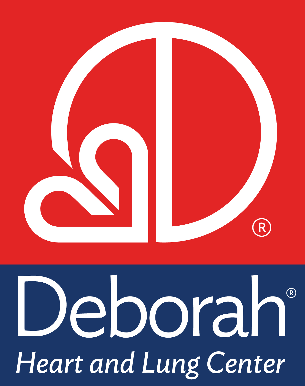 official Deborah Heart and Lung Center Logo 300 dpi vertical